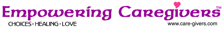 Empowering Caregivers logo - with Choices - Healing - Love